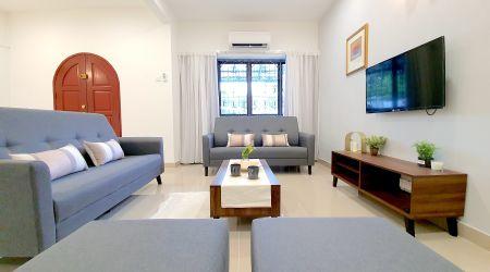 KL White-Themed Terrace House